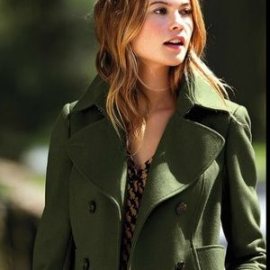 Guess Army Green Peacoat